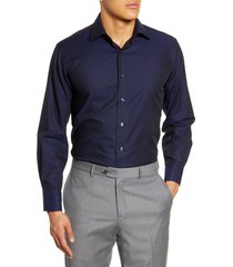 men's lorenzo uomo trim fit dot dress shirt