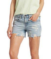dre low-rise distressed denim cutoff shorts