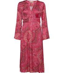 amélie long dress knälång klänning röd odd molly