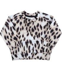 molo beige sweatshirt for babykids with animal print