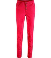 pantaloni elasticizzati con bottoni (rosso) - bpc bonprix collection