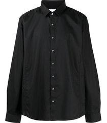 calvin klein extra-slim pointed collar shirt - black