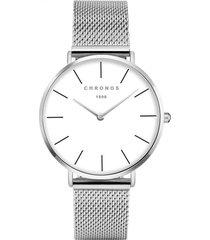 orologio da uomo in acciaio al quarzo impermeabile con cinturino in pelle di acciaio inossidabile moda minimalista