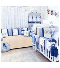 quarto completo padroeira baby clássico azul marinho