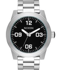 nixon corporal bracelet watch, 48mm in black at nordstrom