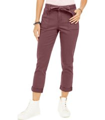 style & co belted cuffed jeans, created for macy's