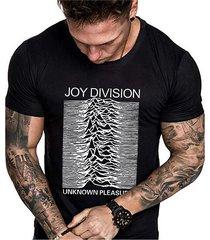 camiseta de algodón informal de verano para hombre soft con estampado de letras gráficas lisas