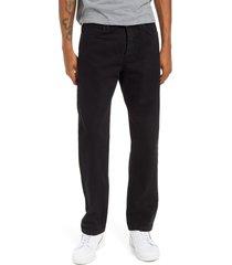 men's topman straight leg jeans, size 34 x 30 - black