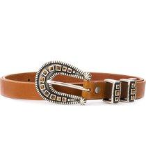 alanui pebbled-effect buckled belt - brown