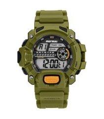 relógio digital mormaii masculino - mozm11328v verde militar