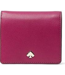 kate spade new york women's small bi-fold wallet - rhubarb