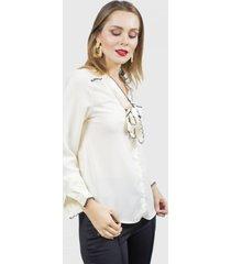 blusa bessiere beige fashion's pacific