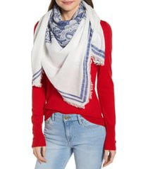 women's tory burch square fringe scarf