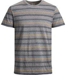 jack & jones plus size t-shirt ronde hals grijs