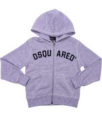 dsquared2 marled grey cotton sweatshirt hoodie