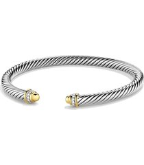women's david yurman cable classics bracelet with 18k gold domes & diamonds, 5mm