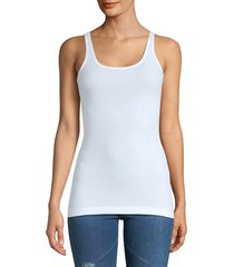 vince women's favorite ribbed tank top - white - size xs
