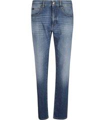z zegna classic fit denim jeans