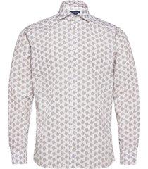 slim fit blue poplin shirt overhemd casual crème eton
