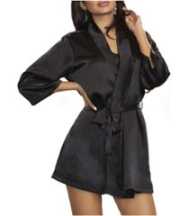 icollection-lila satin ultra soft lounge robe, wrap