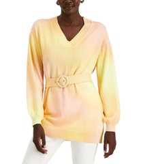 inc belted ombre sweater, created for macy's