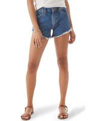 women's wrangler heritage cutoff denim shorts, size 25 - blue