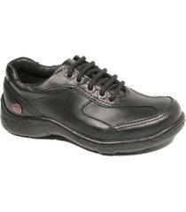 zapato negro cavatini 20-0354-acordonado-flor negro