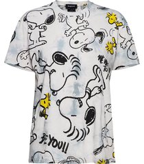 ts snoopy t-shirts & tops short-sleeved grå desigual