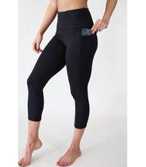 leggings de cintura alta con bolsillos laterales
