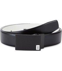 pga tour men's super golfer faux leather belt - black - size 40