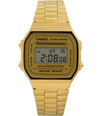 reloj casio a_168wg_9w dorado acero inoxidable