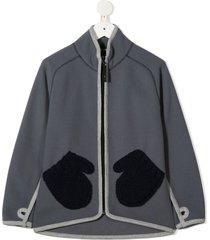 molo ushi mitten-pockets jacket - blue