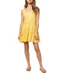 women's o'neill linnet sleeveless cover-up minidress, size small - yellow