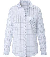 blouse 100% katoen lange mouwen van peter hahn wit