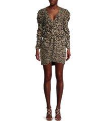 bardot women's tracey twist mini dress - animal - size xxs