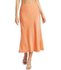 jonathan simkhai women's luna textured satin skirt - sedona - size 2