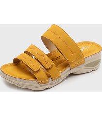 sandalia amarillo stylo shoes