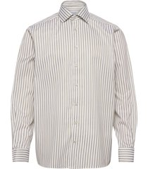 contemporary fit bengal stripe signature twill shirt overhemd business groen eton