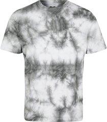 river island mens grey tie dye short sleeve t-shirt
