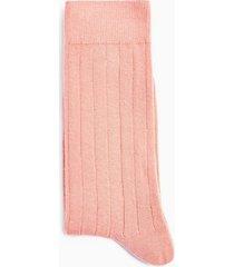 mens pink ribbed socks