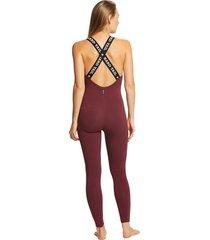 hard tail women's logo bodysuit - fig x-small cotton