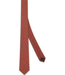 fendi jacquard-woven tie - orange