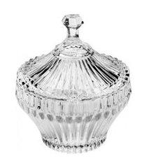 potiche lyor de cristal renaissance 11,5x13,5cm incolor