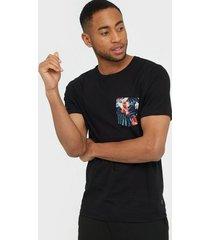 premium by jack & jones jprlee bla. tee ss crew neck t-shirts & linnen svart