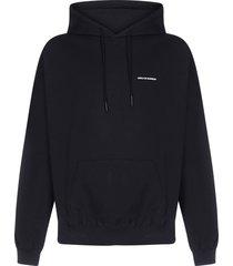 drôle de monsieur nfpm embroidered cotton hoodie