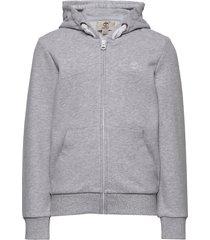 hooded cardigan hoodie grå timberland