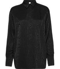 kaarna collar shirt blouse lange mouwen zwart hálo