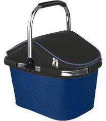 cesta de picnic térmica cooler nautika bistrô 28 litros