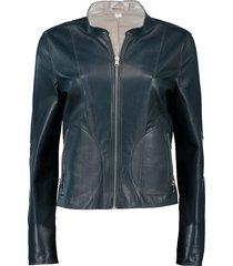 chapin leather reverse bomber jacket
