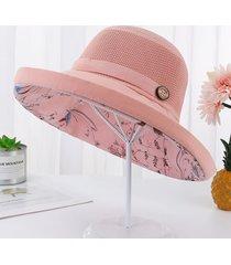 sombrero del sol de la flor del ala ancha grande del verano para las